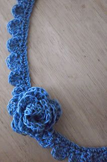 art by tasha: Blue Crochet Neclace
