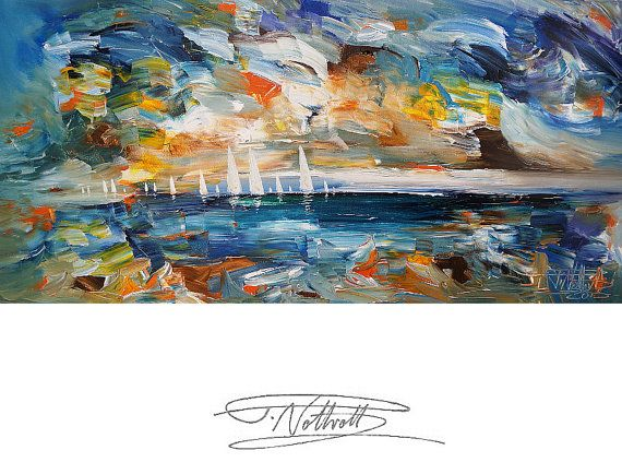 99 best Sailing Seaside Maritim Paintings images on Pinterest - new certificate of authenticity painting