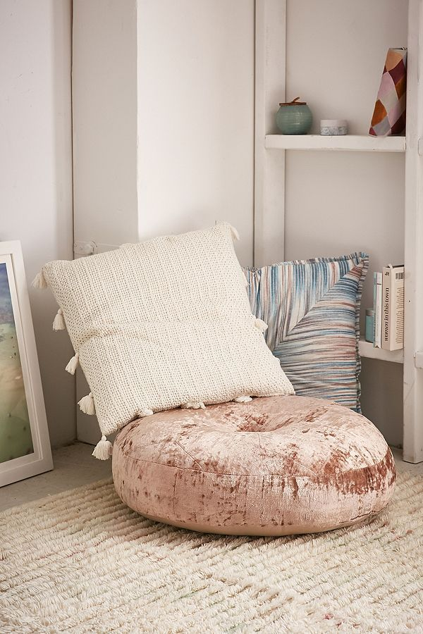 Velvet Pillow Pouf Floor Cushion For A Luxe Decorative Accent That Doubles As Comfy Place To Sit Floorpillow Afflink