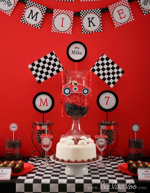 Race Cars / Vintage Race Car / Car / Transportation Birthday Party Ideas | Photo 26 of 34 | Catch My Party