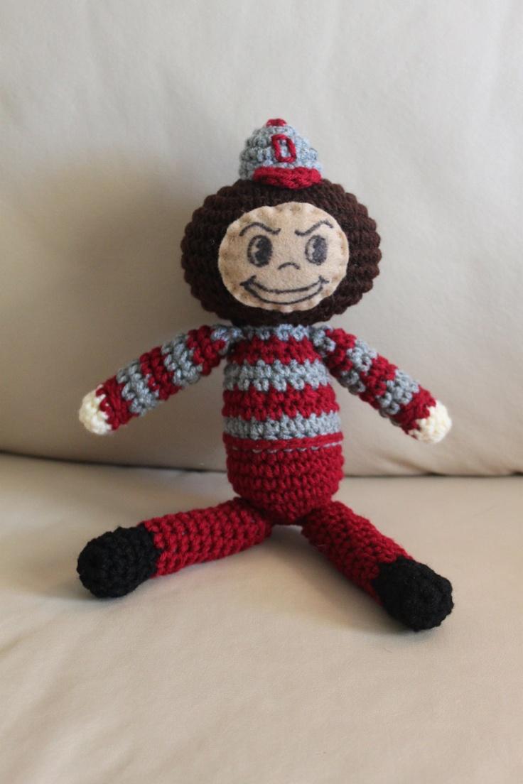 Ohio state university brutus buckeye statue - Brutus The Buckeye Crochet Ohio State Mascot