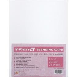 This blending card is the perfect paper for all of your stamping and card making needs. The super smooth, silky surface allows for crisp special effects and bright colors. This pack includes 25 indivi More
