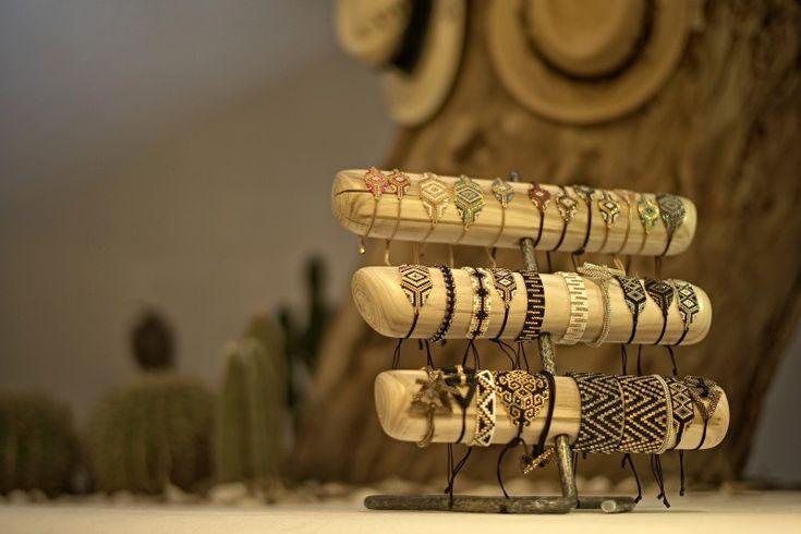 Andreea Hanta's jewellery stand currently at Luisa Nammos, Mykonos.