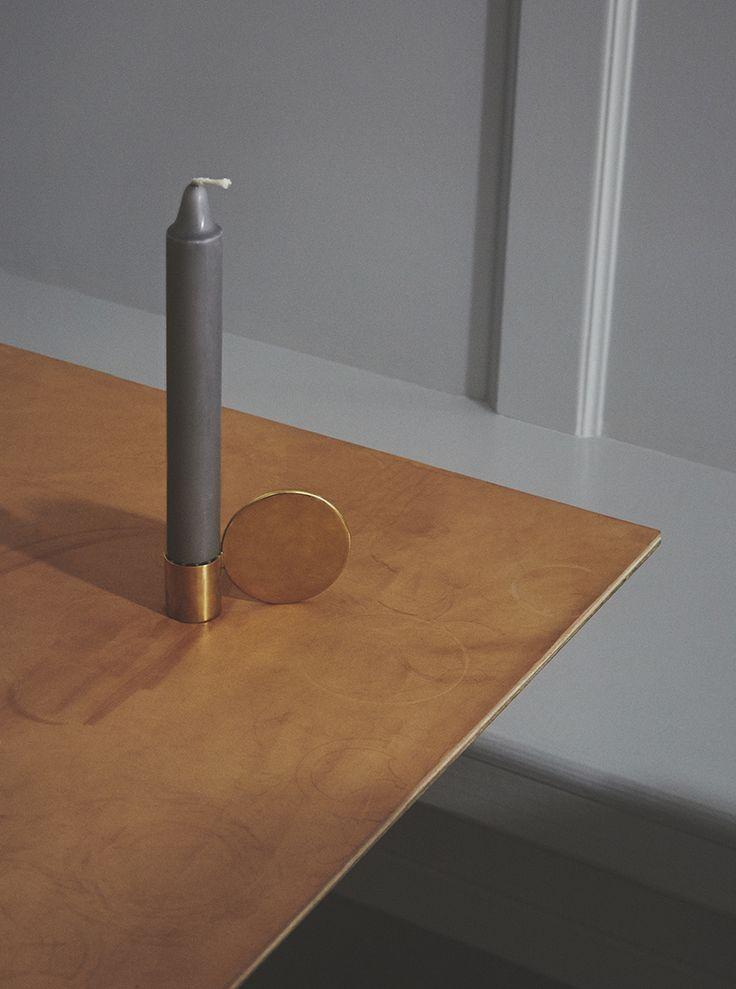Fundament Candle Holder designed by Maribel Carlander for Frama.