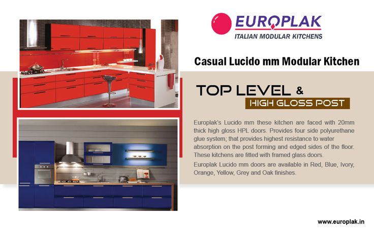 Casual Lucido mm Modular Kitchen For more details Visit : http://www.europlak.in/