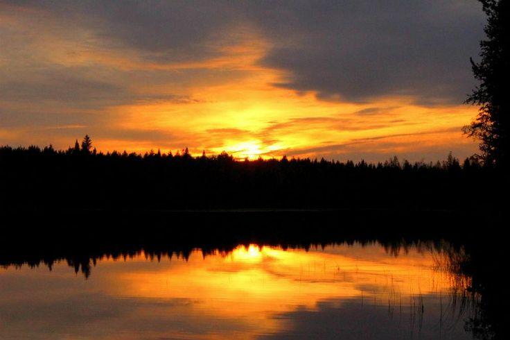 Sunset in Ruka, Kuusamo
