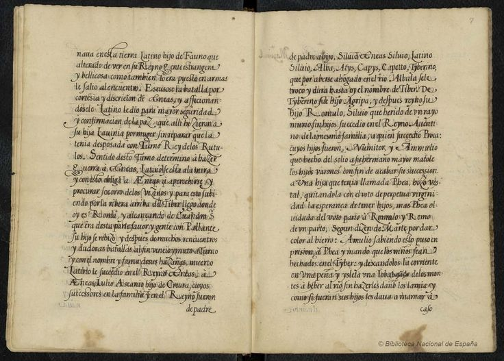 Example of a mise-en-page, from the Hispanic Digital Library, Madrid, Spain. Find description from catalog record stating the origin and descent of the Illma, and an old family and house of Lecca,  c. 1400-1500,  Verses in Latin and Spanish. Catalog record: http://catalogo.bne.es/uhtbin/cgisirsi/0/x/0/05?searchdata1=Miam0000000010  Images are shared freely: http://www.bne.es/en/Catalogos/BibliotecaDigitalHispanica/Acercade/
