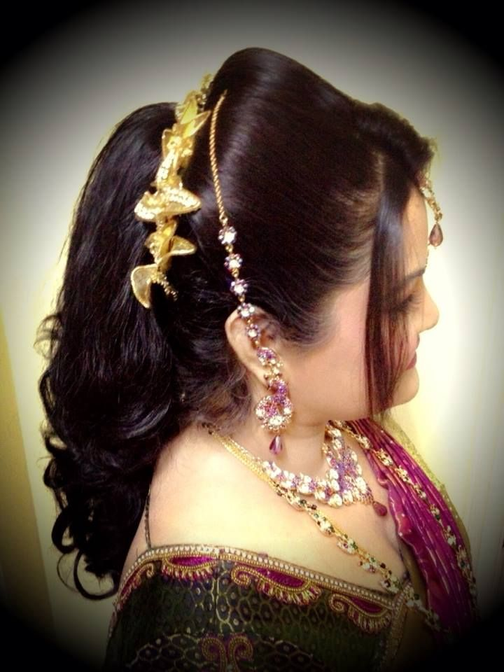 Peachy 1000 Ideas About Indian Bridal Hairstyles On Pinterest Braided Short Hairstyles Gunalazisus