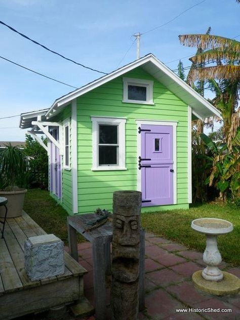 our friends over at historic shed were contacted by an artist in ormond beach florida to design and build a backyard shed art studio tiny house - Garden Sheds Florida