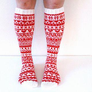 Joulukalenterisukat 2015 / christmas calendar socks by Niina Laitinen on ravelry