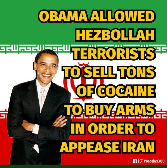 Under his administration through Eric holder and the fast and furious gun running operation. Obama funneled guns and drugs to the Mexican drug cartels which shipped them over to hezbollah the terrorist organization to be spread throughout Europe and against Israel this is a fact...