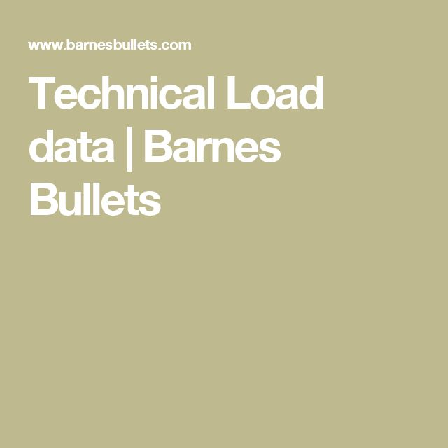 Technical Load Data