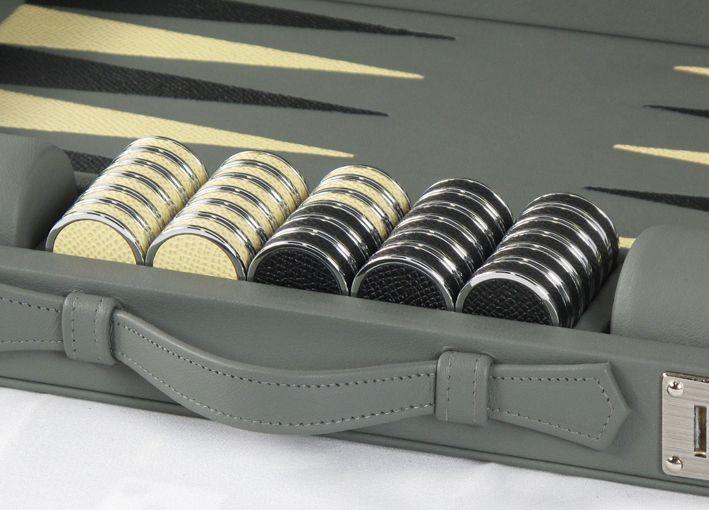 Our Compact Travel size backgammon set #luxury #leather #backgammon #design #games #boardames #bespoke #custom
