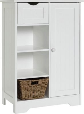 Buy Shaker Slimline Hall Storage Unit with Cupboard - White at Argos.co.uk, visit Argos.co.uk to shop online for Storage units