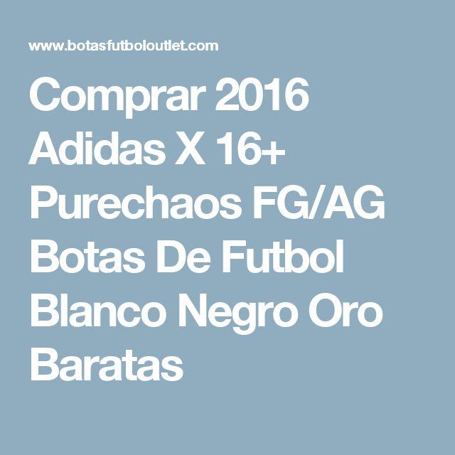 Comprar 2016 Adidas X 16+ Purechaos FG/AG Botas De Futbol Blanco Negro Oro Baratas