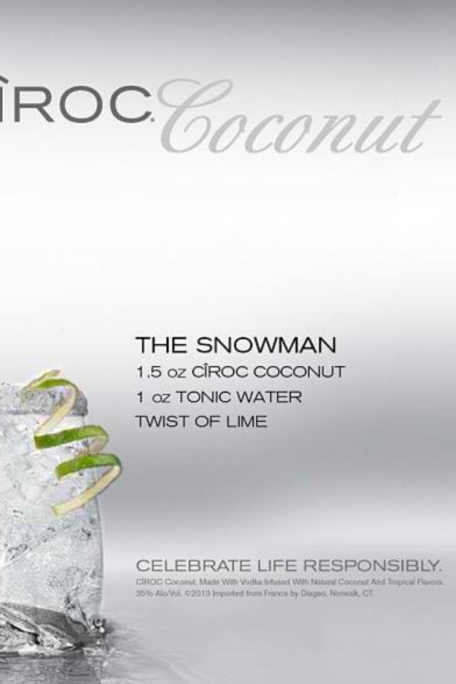 Ciroc ... They put the lime in the coconut ... LOL