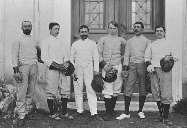 Escrime aux Jeux olympiques de 1896.
