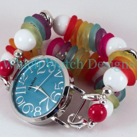 Rainbow Bright Beaded Interchangeable Watch Band - Which Watch Designs