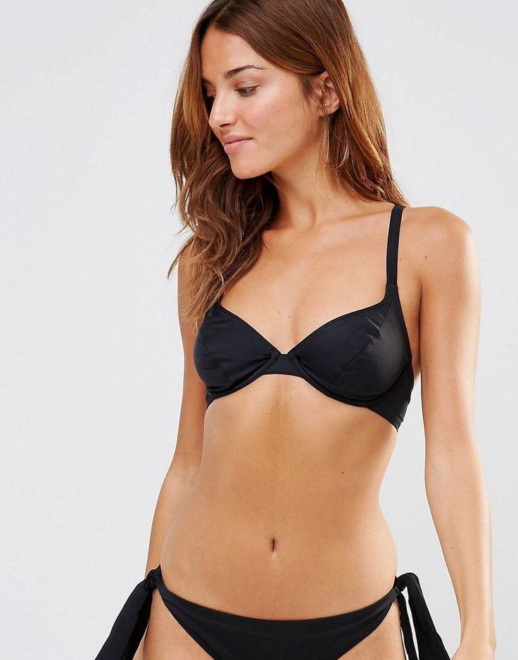 Image 1 ofPour Moi Black Multiway Underwired Bikini Top