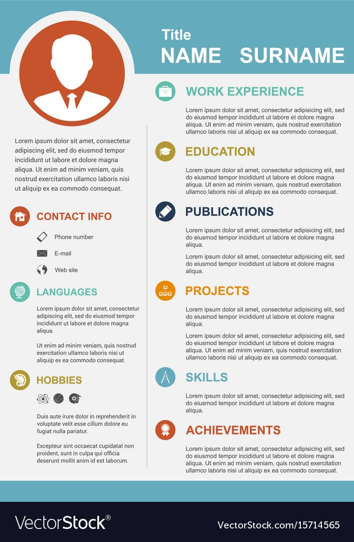 Infographic Template With Icons For Cv Personal Profile Resume Organisation Download A Infographic Resume Template Infographic Templates Infographic Resume
