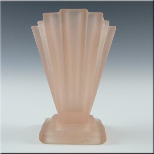 Bagley 1930's Art Deco Pink Glass 'Grantham' Vase #334