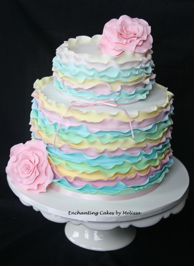 Pretty pastel birthday cake