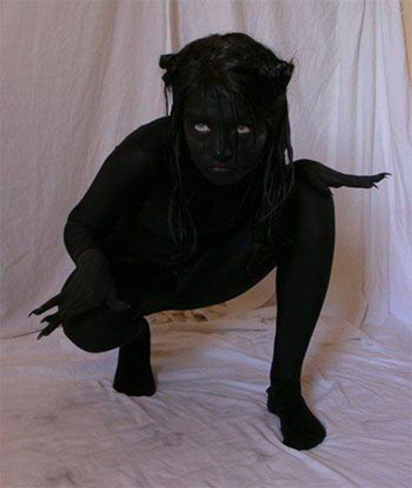 tolle halloween kostüme in schwarz karnevalskostüme