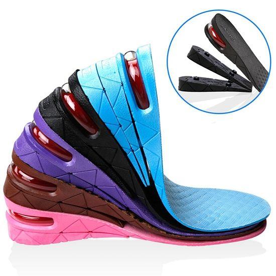 Gratis Pengiriman 1 Pair Wanita Adjustable Tinggi Meningkatkan Insole Sepatu Olahraga Pad Bantal Sisipan Tinggi Sol untuk Pria