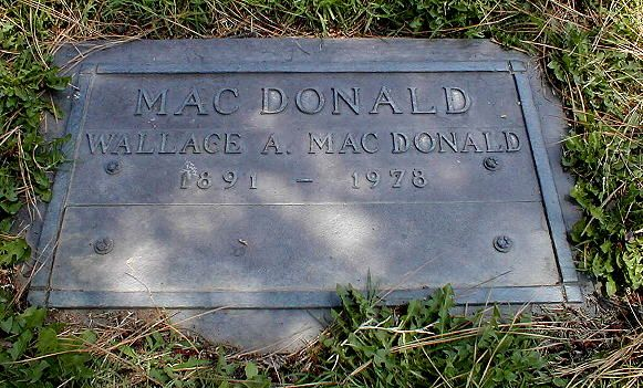 Wallace MacDonald - Canadian silent film actor, and film producer.