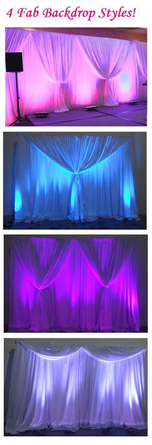 How to create a backdrop swag!  Learn more at https://rentmywedding.com/Valance…