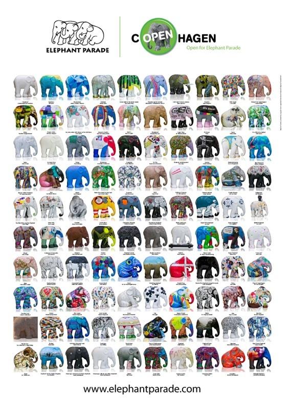 Elephant poster from Elephant Parade