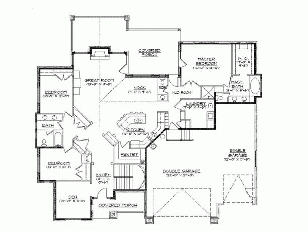 Eplans new american house plan mountain craftsman for Open floor house plans with walkout basement