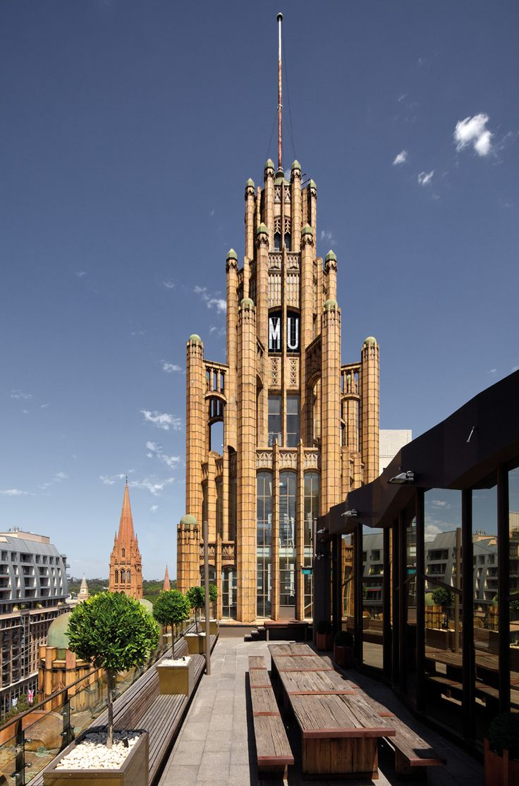 Roof terrace, Manchester Unity Building, Melbourne