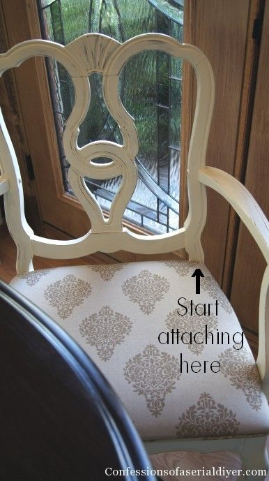 Dining Chairs Redo With Drapery Panel Fabric