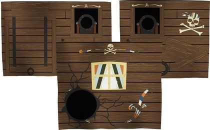 Pirates entrance #clean #room #storage #déco #design #kids #safe #scandinave #europeen #Flexa #entrance #pirates