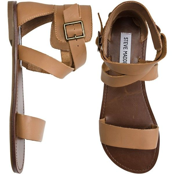 Would love these. Shows they are sold out though. Steve Madden Bethany Sandal ($50) found on Polyvore