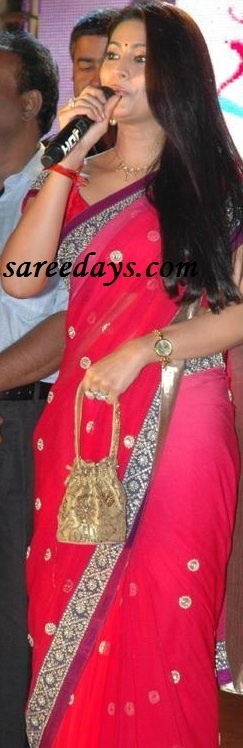 Latest Saree Designs: sneha in pink designer fashion saree