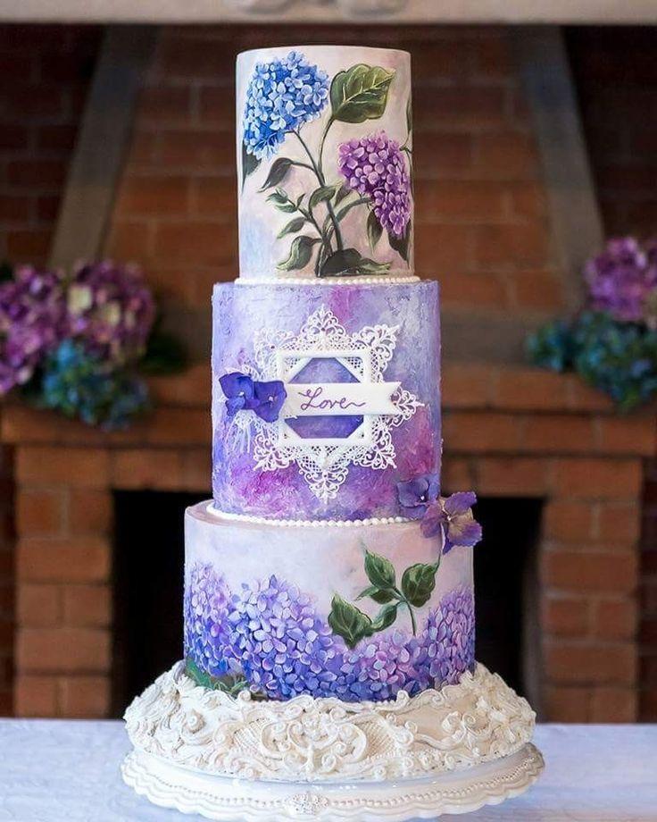 231 best Hydrangea wedding cake images on Pinterest   Cake ...