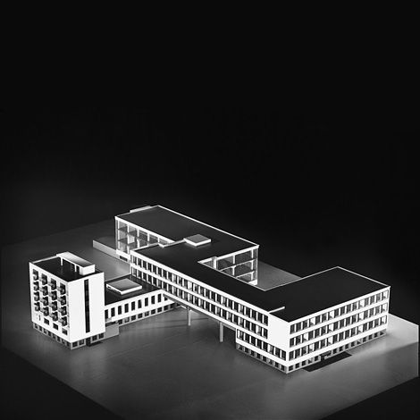 Scale model of the Bauhaus School in Dessau, Germany