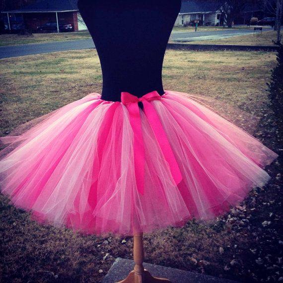 "Adult Flamingo Tutu Flamingo Costume Tutu for waist up to 34"" great for Halloween, Birthdays, Dance and Bachelorette parties"