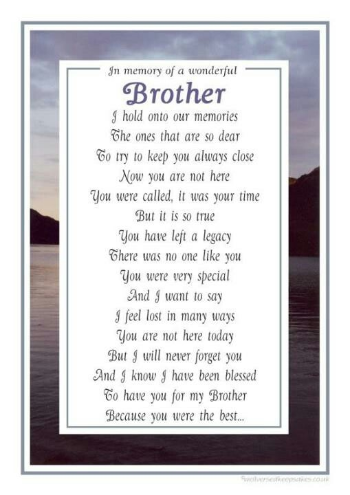 you were always my protector and close friend I miss you so very much my big Brother you were the BEST!!<3