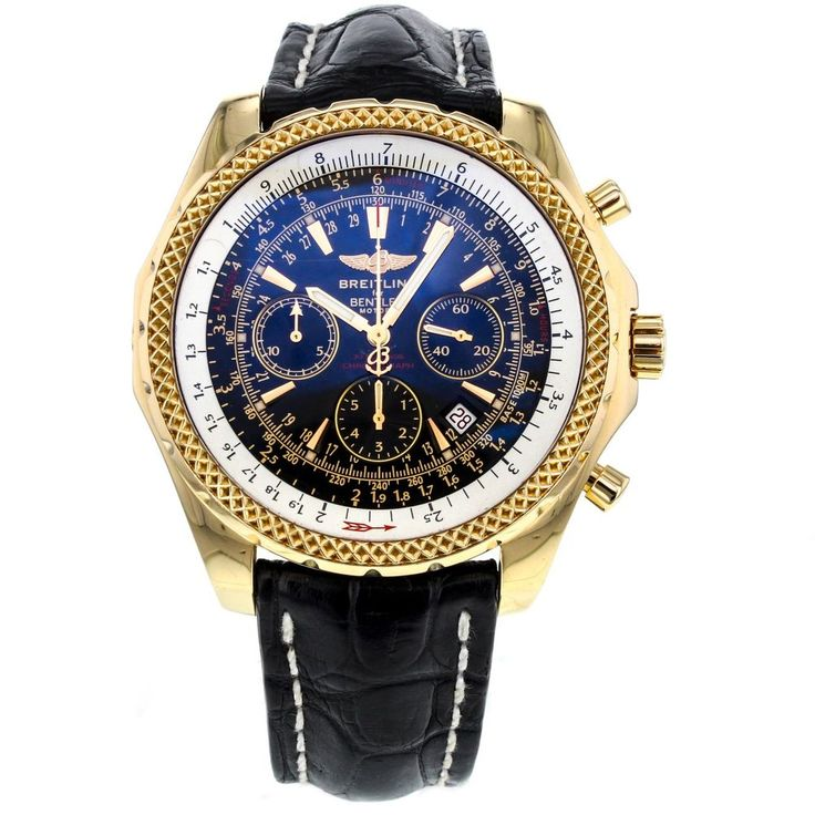 Breitling Bentley Motors Special Edition Yellow Gold Black Dial Men Watch K25362 #Breitling #LuxurySportStyles