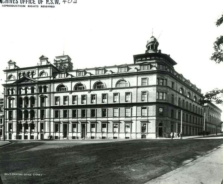 Government Printing Offices on Bent St,Sydney,where the Intercontinental Hotel is now.