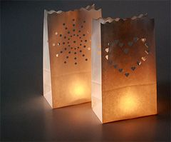 Simple luminaries for holiday or event decoration. Pretty and simple! Take care when using candles ;)