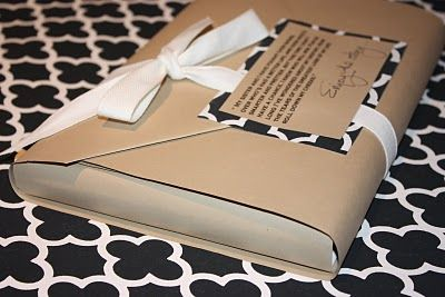 gift wrap... how to wrap a book