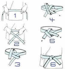 How to tie a karate belt