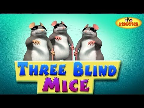 Three Blind Mice || 3D Nursery Rhymes For Children with Lyrics || 3 Blin...