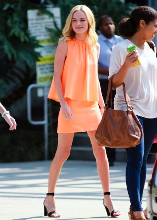 peachy: Orange, Fashion Style, Color, Kate Bosworth, Street Style, Outfit, Dresses, Katebosworth