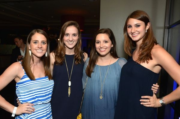 10 Julia Davis, from left, Colleen Wagner, Taylor LeBlanc and Elyse Wasserstrom at the Blue Cure Foundation benefit party at Hotel ZaZa June...