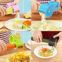 Urijk Multifunción Espiral Vegetales Rebanadoras Rallador Doble Premium Cortador De Fideos Calabacín Pasta Fabricante de Afilador de cuchillos(China)